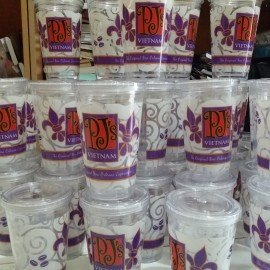 Sản xuất ly nhựa 2 lớp  – decan