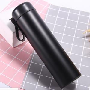 Bình giữ nhiệt inox 500ml,đen/ dây silicon
