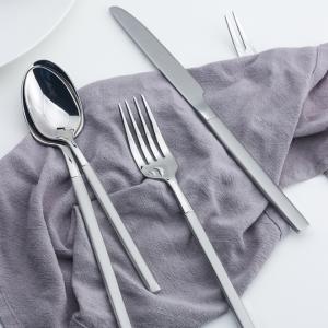 Bộ 5 sp dao nĩa inox bít tết tráng gương