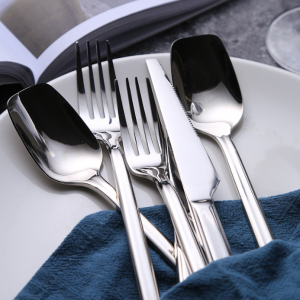 Bộ 4 sp dao nĩa inox bạc